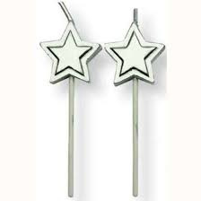 PME Candles Silver Stars pk/8