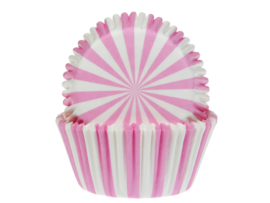 House of Marie Baking Cups Circus Pink pk/50 [HM4655]