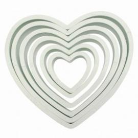 PME Plastic Cutter Heart Set/6