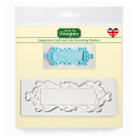 Katy Sue Mould Decorative Plaque - Rectangle Hearts