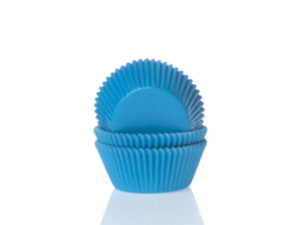House of Marie Mini Baking Cups Cyaan Blauw pk/60 [HM5362]