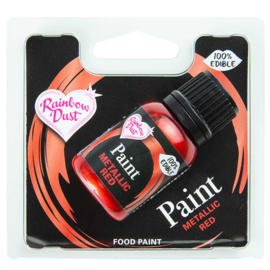 Metallic Food Paint - Metallic Red - RD
