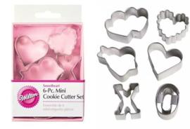 Wilton Mini Sweetheart (Valentijn) cutter set/6
