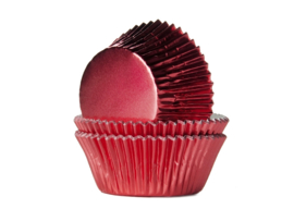 House of Marie Baking Cups Folie Rood - pk/24 [HM-2040]