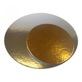 Taartkarton zilver/goud rond 26 cm, 3 stuks [KA801-0026]
