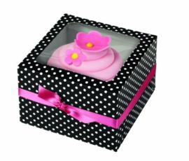 Wilton Cupcake Box Black & White Dots [415-0950]