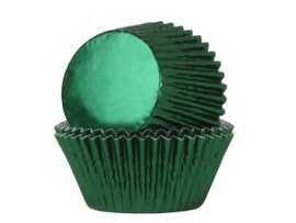 House of Marie Baking Cups Folie Groen - pk/24 [HM1335]