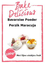 Bake Delicious - Bavaroise Poeder Perzik Maracuja 100gr