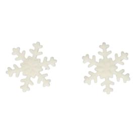 FunCakes Fondant Decoratie Sneeuwvlokken Wit Set/6