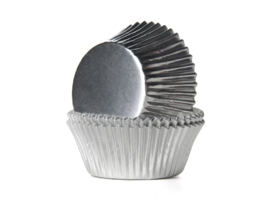 House of Marie Baking Cups Folie Zilver pk/24 [HM2019]
