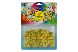 Sin Lian nummers koekjes uitstekers plastic 3cm