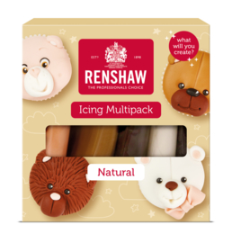 Renshaw Fondant multi pack - naturel - 5x100gr