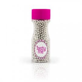 Tasty Me - Parels Metallic Zilver 4mm