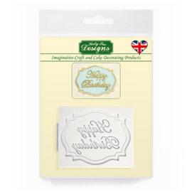 Katy Sue Mould Mini Plaque  - Happy Birthday