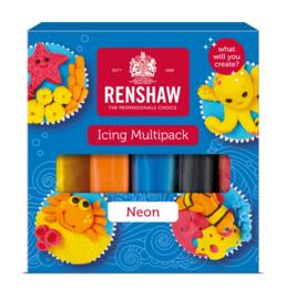 Renshaw Fondant multi pack - Neon - 5x 100gr