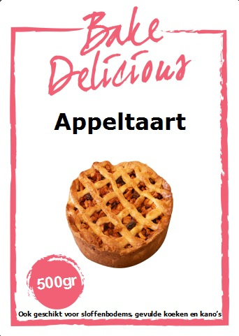 Bake Delicious - Appeltaart - 500gr
