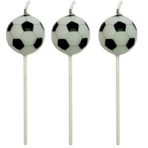 PME football/voetbal kaarsjes p/4