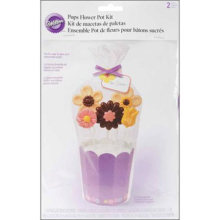 Wilton Pops Flower Pot Kit, 2 stuks