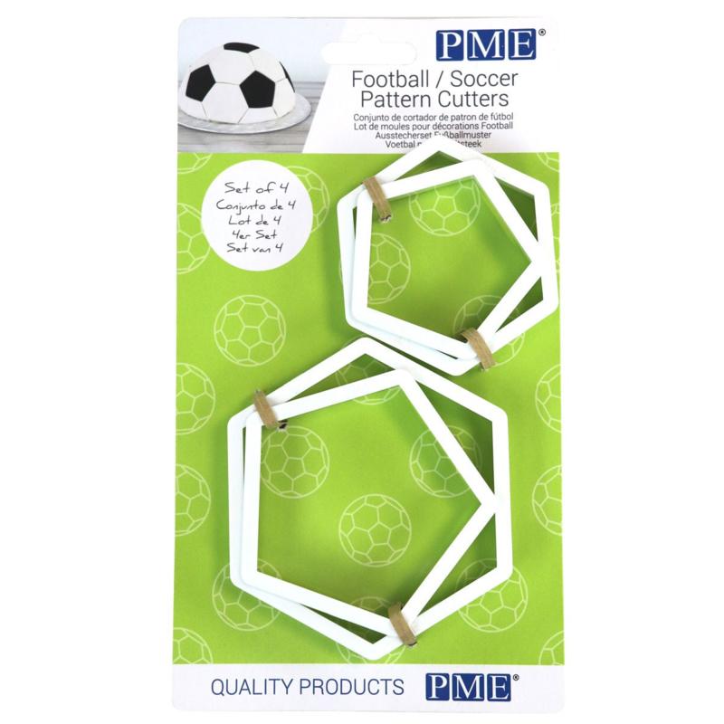 PME Voetbal Patroon Uitstekers Set/4