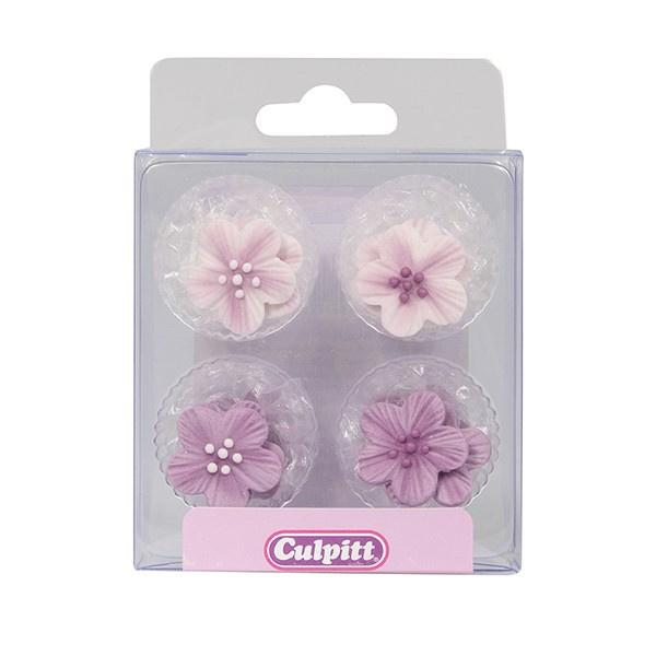 Culpitt Suikerdecoratie Bloemen Paars pk/12