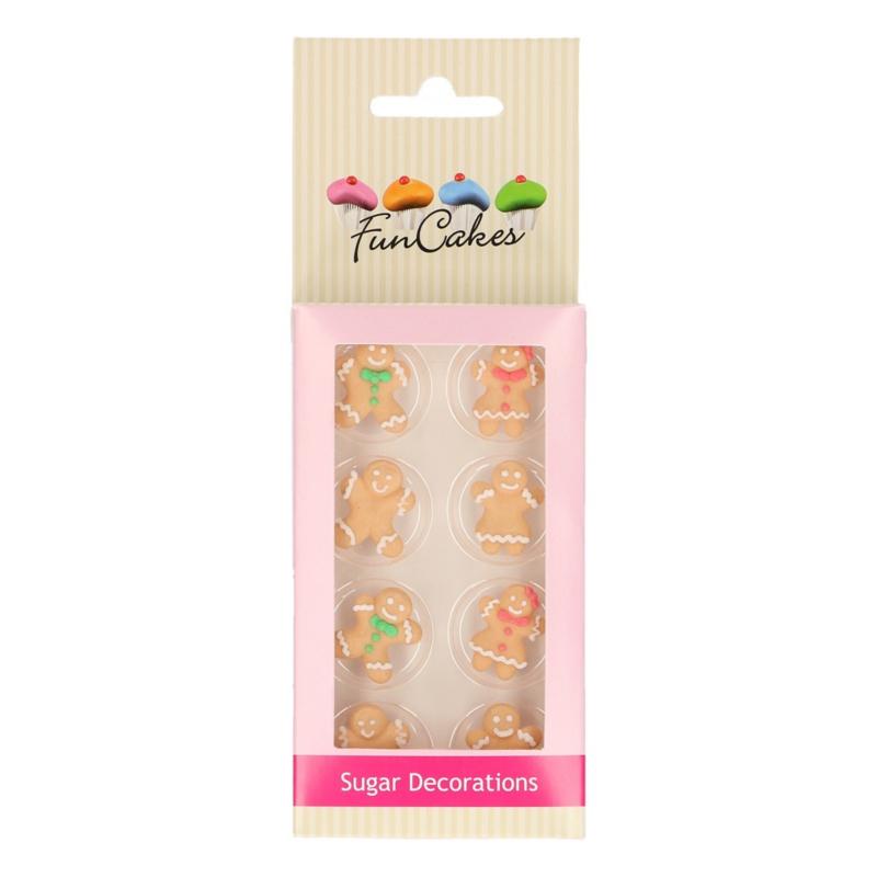 FunCakes Suikerdecoratie Gingerbread Set/8
