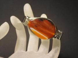 Design Armband met grote natuurlijke Agaat