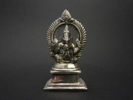 Ganesha beeld brons verzilverd