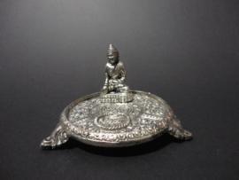 Buddha Wierook standaard metaal verzilverd