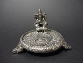 Ganesha Wierook standaard metaal verzilverd