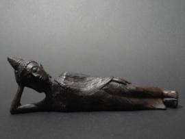 Bronze liggende of reclining Boeddha beeld Het Nirvana