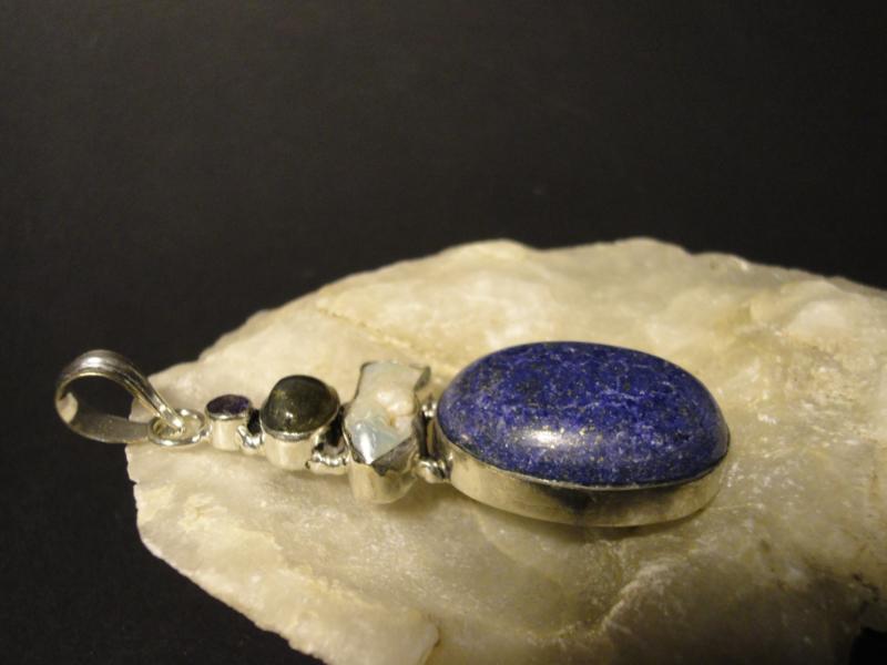 Hanger Zilver 925 met Lapis Lazuli