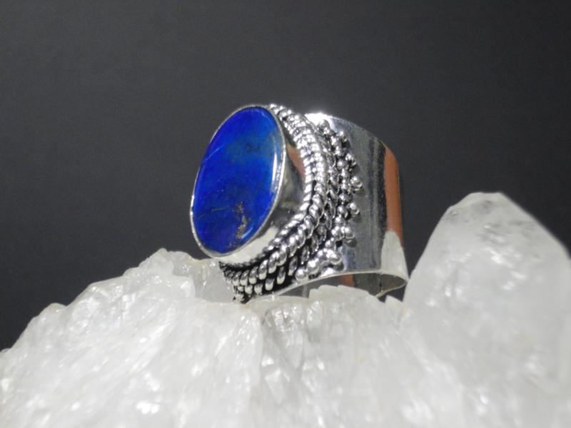Lapis Lazuli ring zilver 925 maat 18.5