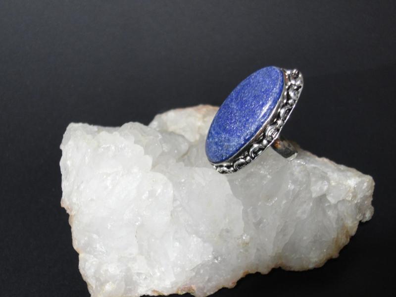 Lapis Lazuli ring  zilver 925  maat 17.5