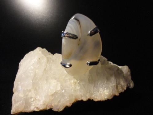 Set met GIGA Agaat armband plus ring handmade uniek design
