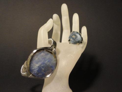 Set met GIGA Agaat van armband met Ring Handmade