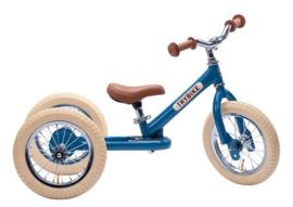 Trybike Steel vintage bleu 2 in 1 loopfiets