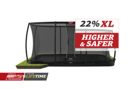 BERG Ultim Elite FlatGround 500x300cm + Safety Net DLX XL