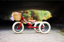 Trybike Steel vintage red 2 in 1 loopfiets