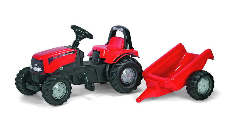 Rolly Toys RollyKid Case traptractor + aanhanger