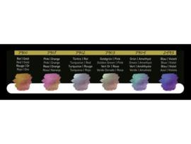 FINETEC Aquarelverf - Pearlesescent Premium Flip-Flop Colours palet F7003 - 6 kleuren