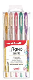 Uni-ball Signo Glitter Gelpennen UM-120SP - 1,0 mm - set van 5