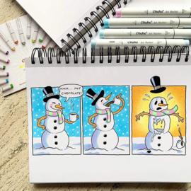 PRE-ORDER: Ohuhu Alcohol based Art markers Brush & chisel - set van 216 + Blender + etui