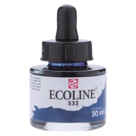 Talens Ecoline Vloeibare waterverf 30 ml - 533 indigo