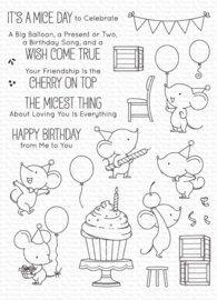 My Favorite Things clear stamps - set van 24 - BB Mice Day to Celebrate