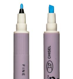 ZIG Emboss Fine & Chisel Twin Tip Pen