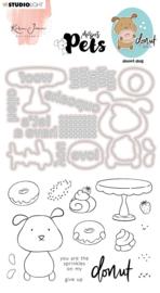 Studio Light Clear Stamp & Die Cut Karin Joan - Missees pets donut dog nr.09