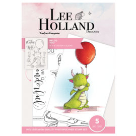 Crafter's Companion Lee Holland Clearstamp - Hello You