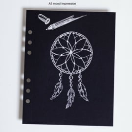 MyArtBook papier A4 - 20 vellen - 120 grams - Zwart tekenpapier