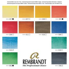 Rembrandt Aquarelverf artist quality - set van 12 kleuren - basisset