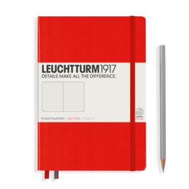 LEUCHTTURM 1917 bulletjournal / Notitieboek A5 - Dotted - Red